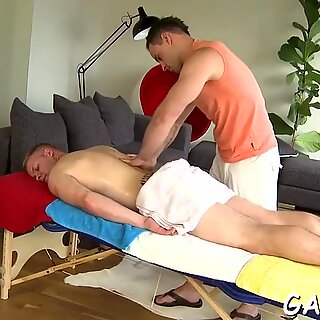Strong lad getting his asshole screwed good