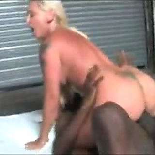 Blonde wife hard fucked by black mob in front of cuckold