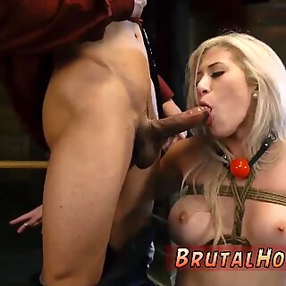 Big-breasted blonde throat fucked