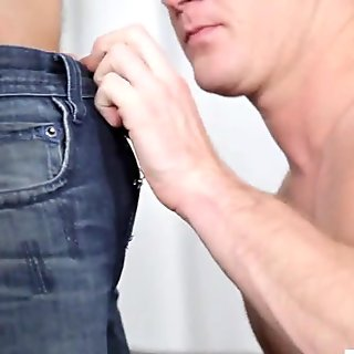 Bi cuckold has to please his wife and her fucker