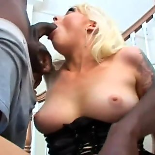 His big black cock is going to tear my ass up