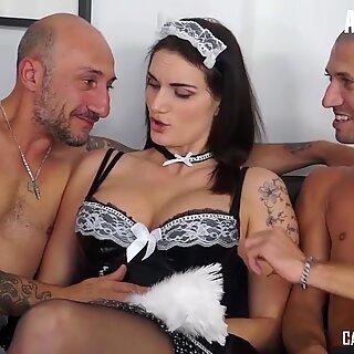 LETSDOEIT - Hot Italian Maid Gets DP In MMF Casting