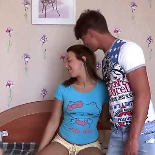 Make Him Cuckold - Teeny makes her bf a cuckold