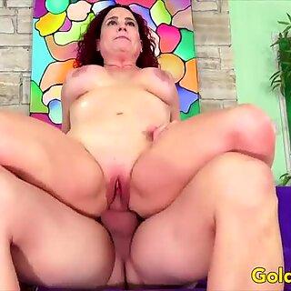 Golden Slut - Horny Older Cowgirls Compilation Part 4