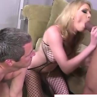 Cuckold boy watches his darling getting fucked by a stranger