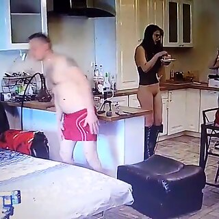 .. Young couple doing amateur porn movies at home ..