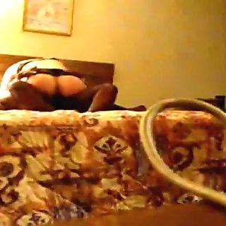 Interracial non-professional cuckold clip with ribald wife