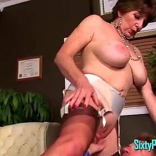 youthful boner bj'ed Off By Granny MILF