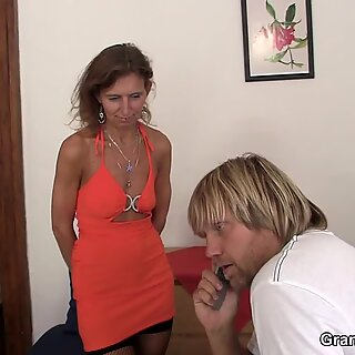 creeper joins mature couple threesome hot group sex