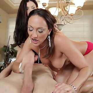 India Summer and Michelle Lay go wild from big cock