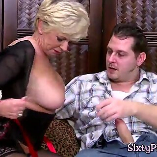 Big titted cougar gets her old cunt ploughed